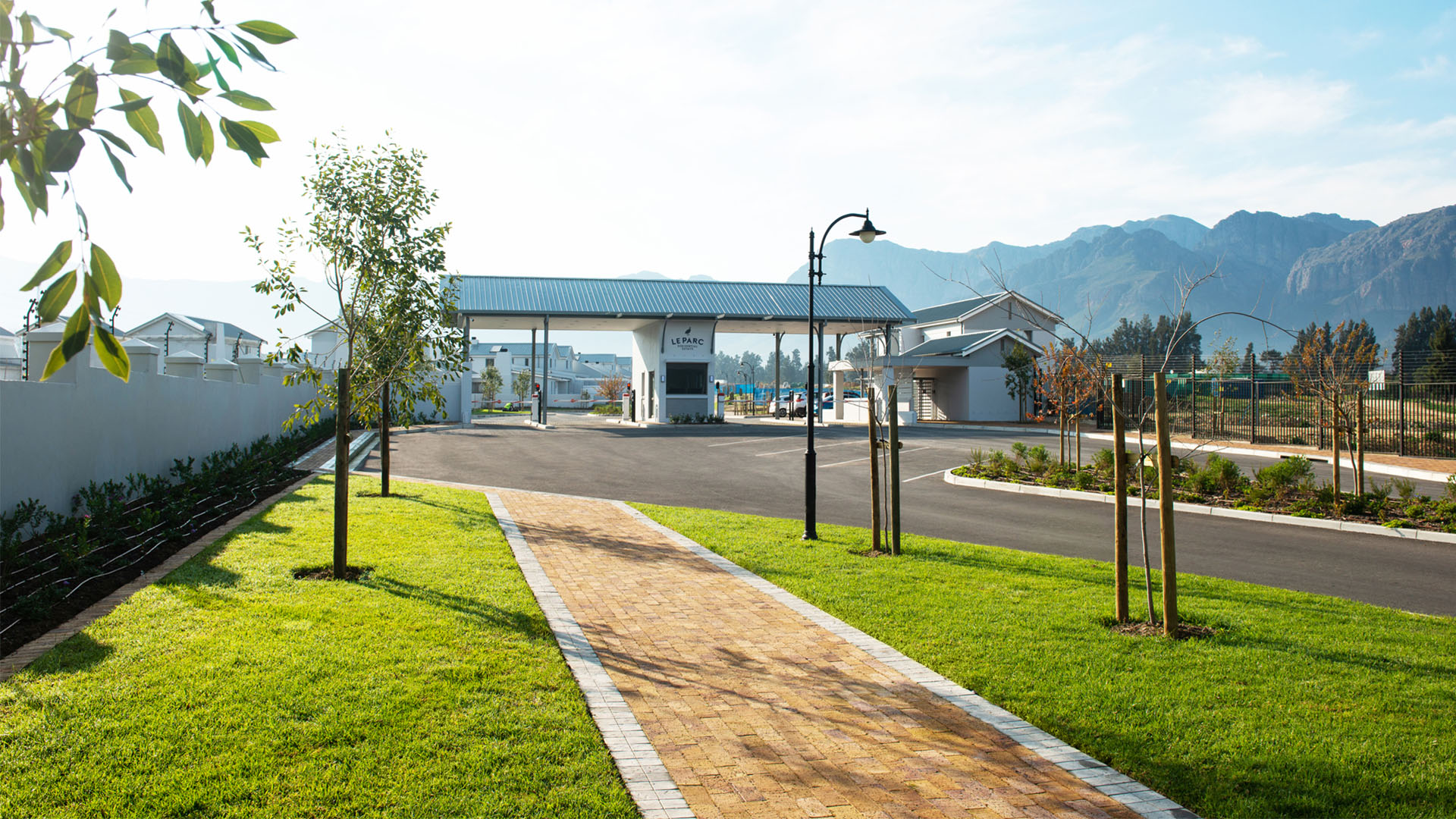 The gatehouse at Le Parc Residential Estate in Paarl