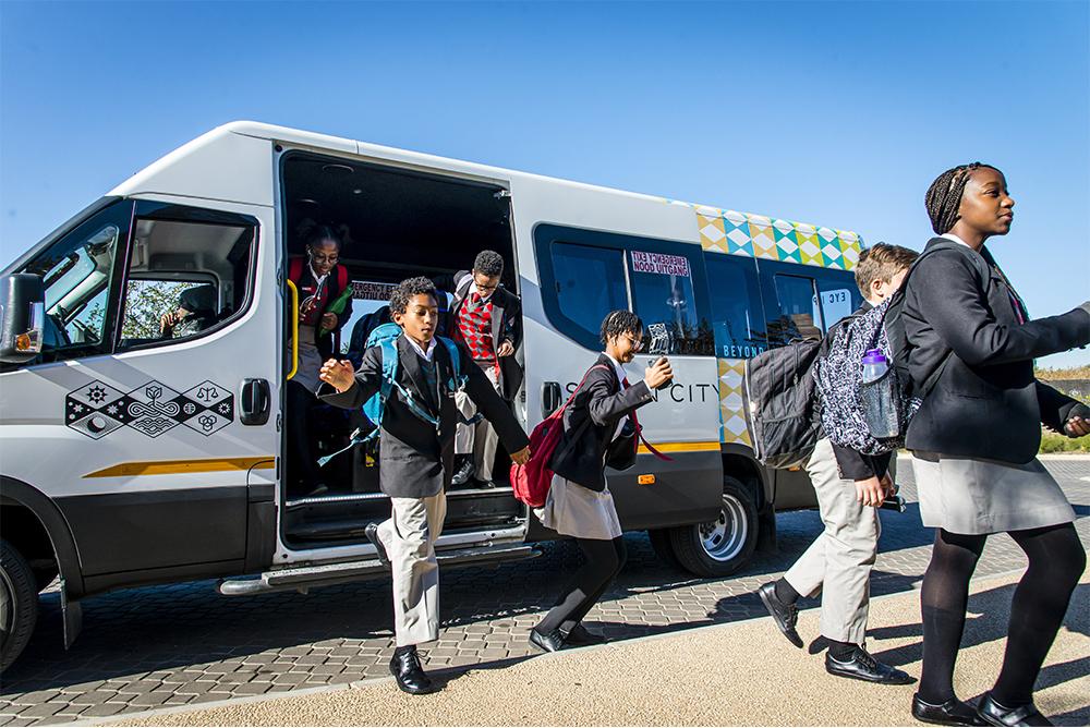 Steyn City School's shuttle bus