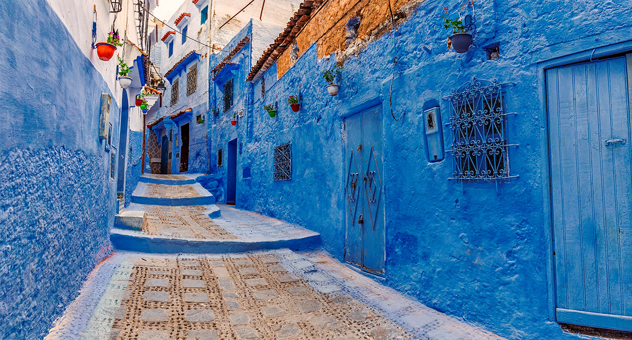 Famous blue city of Chefchaouen, Morocco