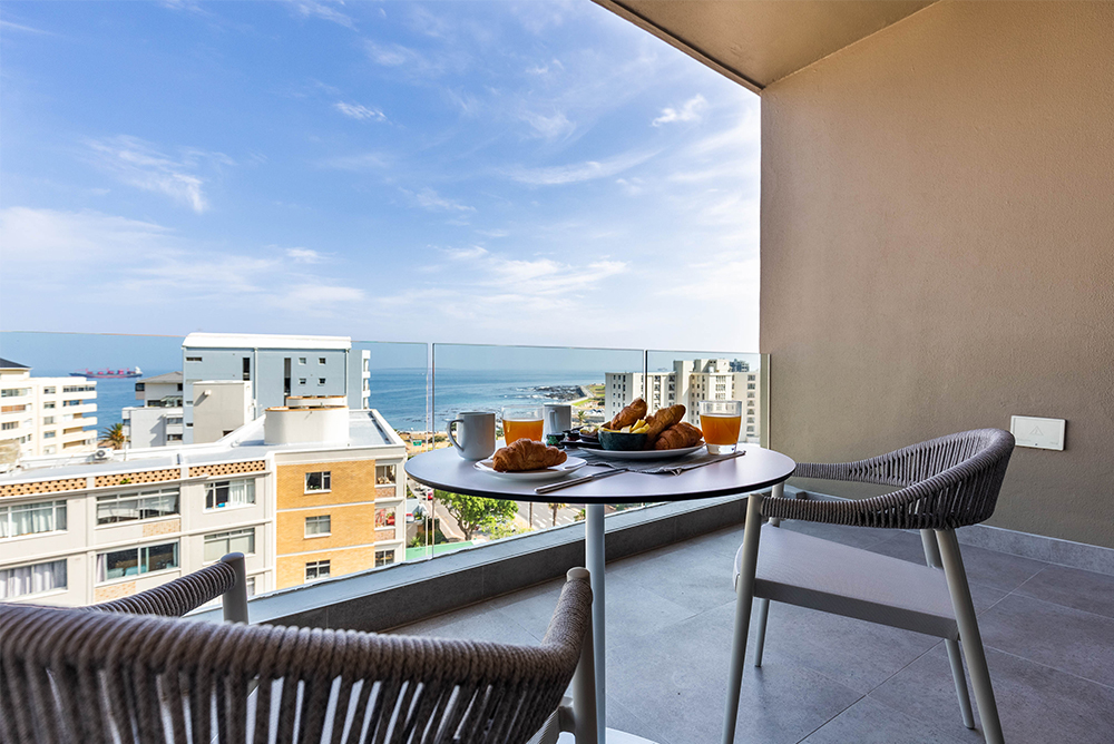 Views from an apartment in The Glengariff, Sea Point