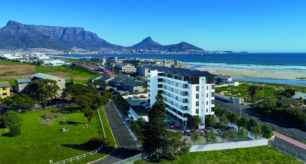 Apartments at Burmeister on Park in Milnerton are being sold from R1.3m (including VAT), also by Pam Golding Properties