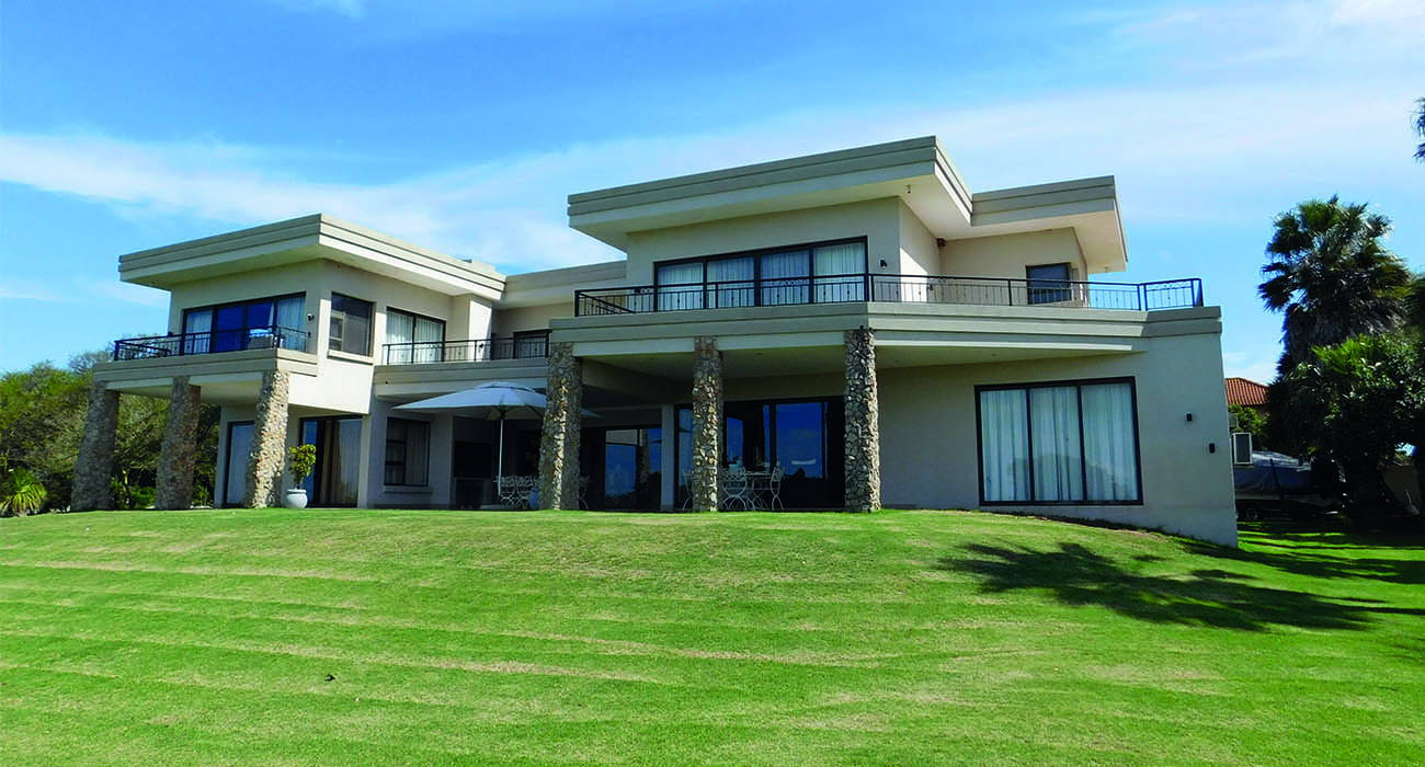 One of three mansions on a 2.4ha lifestyle farm close to Kabeljauws Beach in Jeffreys Bay, being marketed by Chas Everitt International at R35m for the entire property