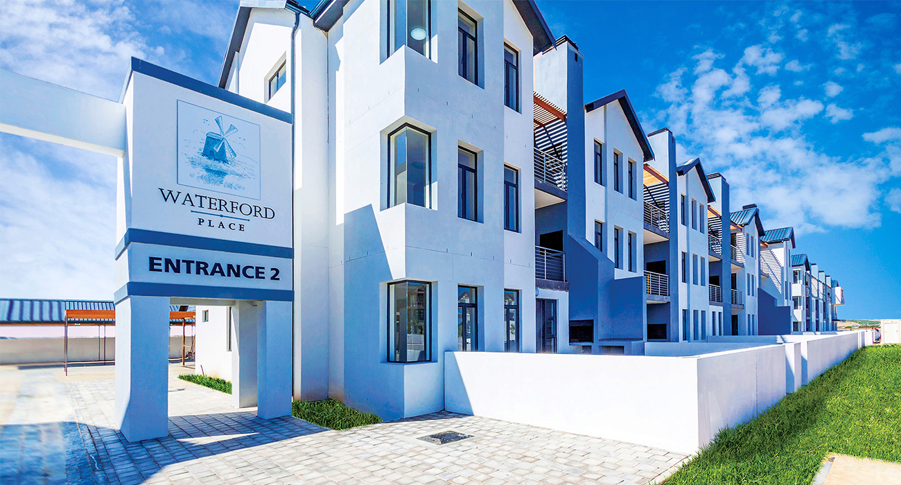 Waterford Place at Sitari Country Estate, Somerset West, comprises move-in ready two-bedroom apartments
