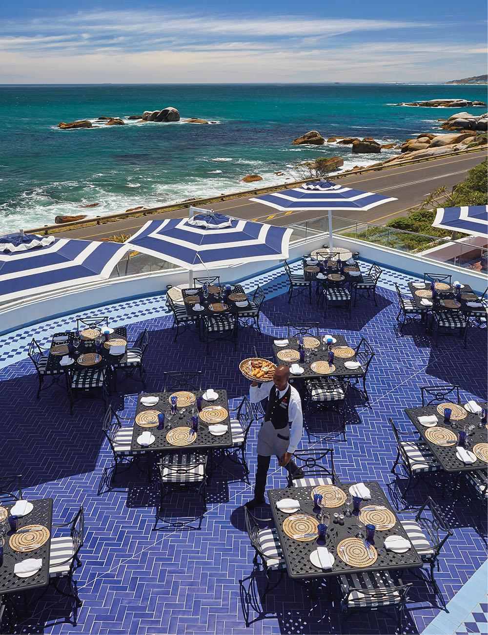 The terrace at Azure Restaurant