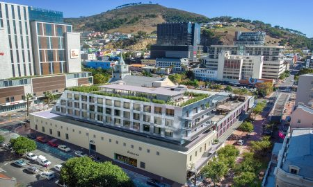Aerial view of The Barracks in Cape Town's CBD