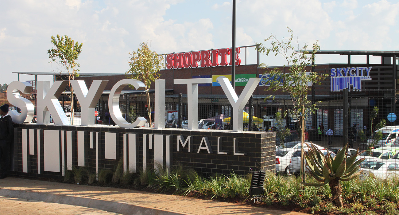 Sky City Mall at the Sky City housing development